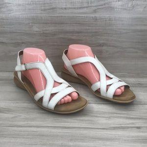 Natural Soul white Joslen sandals size 8.5M